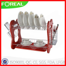 16 Inch Metal Wire Dish Rack with Cutlery Holder