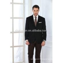 Manteau de cachemire de luxe de style classique de couleur noire pour hommes