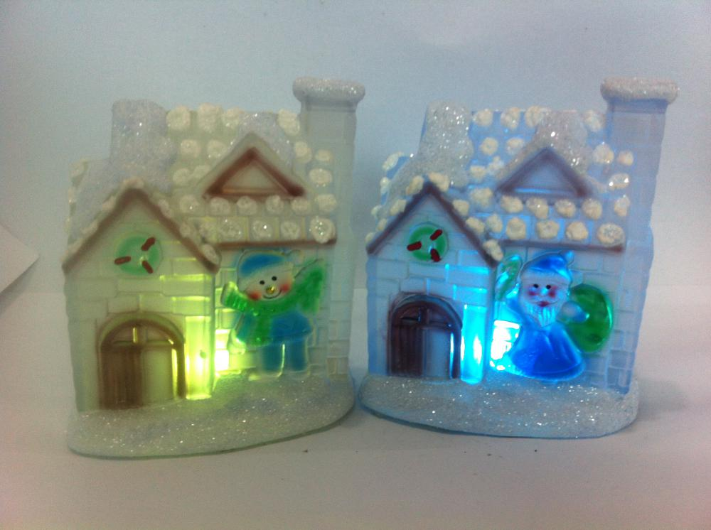 Christmas house with LED for gift