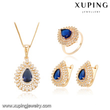 63881 Xuping Fashion 18k Jewelry, Hot Sale Bridal Wedding Jewelry Set With 18K Gold Plated