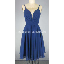 V Neck Chiffon Prom Dress para senhoras
