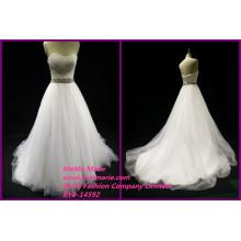 Кристалл свадьба завод платья без рукавов милая свадебные платья бисером пояса дамы Официальный платья БЫБ-14592