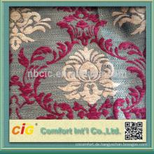 Arbeiten Sie neues spätes Artblumen-Chenille-Sofa-Gewebe um