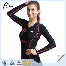 Femmes Chemises Customzied Compression Sport Wear Gros