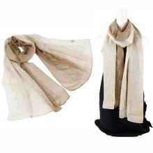 Bufanda de seda de emboidery del color de dos tonos China al por mayor con los cequis