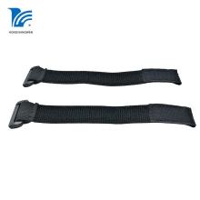 Black Elastic Loop Hook Fastener Strap