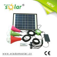 Iluminação home inteligente solar levou pingente com 3 lâmpadas de LED, luzes solares (JR-SL988A)