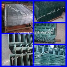 DM powder coated garden 3D fence with triangle bending mesh panels from Anping Deming