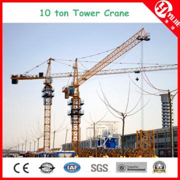 Qtz125 (6015) Carga máxima de 10 toneladas guindaste de torre estacionário para venda
