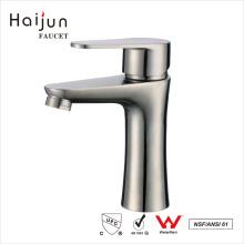 Haijun mejor marca contemporánea único agujero de acero inoxidable 304 agua grifo del lavabo