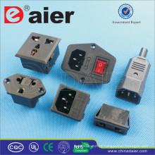 Daier 110V soquete de energia AC com fusível