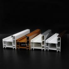 Portes de fenêtres de profils en bois laminé de PVC de couleur