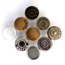Factory Low Price Custom Metal Pants Snap Buttons Clothes Adjust Buttons