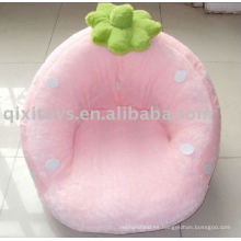 Sofá de peluche de felpa rosa