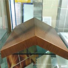 Wood Look Spezielle Form Aluminium Wabenplatten