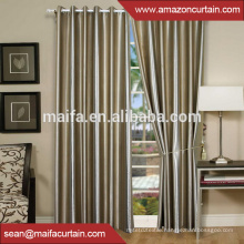 100% polyester Plain Dyed Shining and Matt ready made Blackout Curtain Fabric