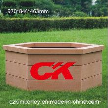 100% reciclável WPC caixa de flores da China