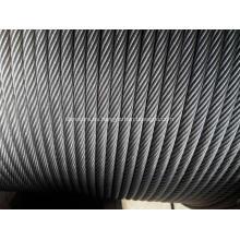 Cuerda de alambre de acero de la tracción del elevador 8/10/12/13 / 16m m