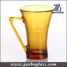 Amber Color Solid Color Glass Coffee Mug