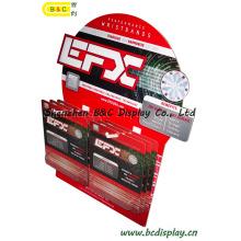 Pantalla de cartón 20PC / CTN, pantalla corrugada, soporte de exhibición de papel, pantalla de piso de cartón, pantalla de gancho POS, pantalla de pegboard (B & C-E002)