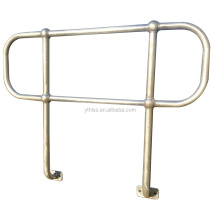 anti-corrosive mild steel ball joint handrail stanchion railing for industrial safety fence