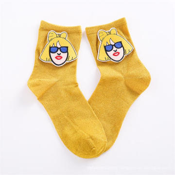 2019 Autumn  New Fashion Cotton Simpson Socks Female Ankle Tube Cartoon Women Socks Wholesale