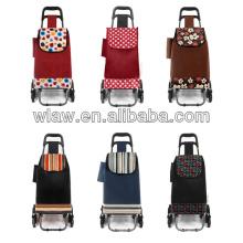 Sacos para carrinho de compras dobráveis com 2 rodas