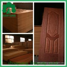 HDF/MDF Moulded Door Skins Faced Use Wood Veneer or Melamine