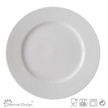 Embossed Ceramic New Design Porcelain Plate