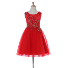 Curve Neck Flower Girl Dress for Wedding and Ceremonial