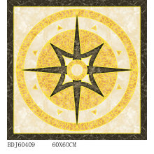 Elegant Decorative Carpet Tile Gold com 800X800mm (BDJ60409)