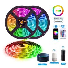 Amazon Alexa Google Home Tuya Wifi IP65 Flexible Waterproof LED Strip Light Strip LED Light RGB