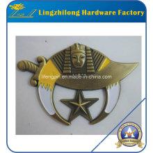 Oro antiguo que termina el emblema de Masoniccar