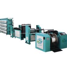 Máquina de urdidura dividida em tecido fannel