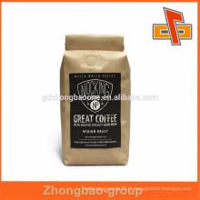 Novos produtos quentes para 2015 saco de café de alumínio kraft com válvula e laço de estanho