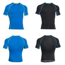 OEM Gym Wear T-Shirt de Fitness Esporte Dry Fit Camisetas