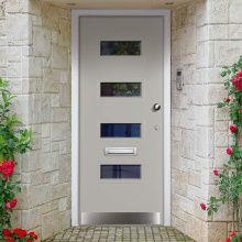 Moderne schlichte Design-Sicherheitstüren aus Massivholz