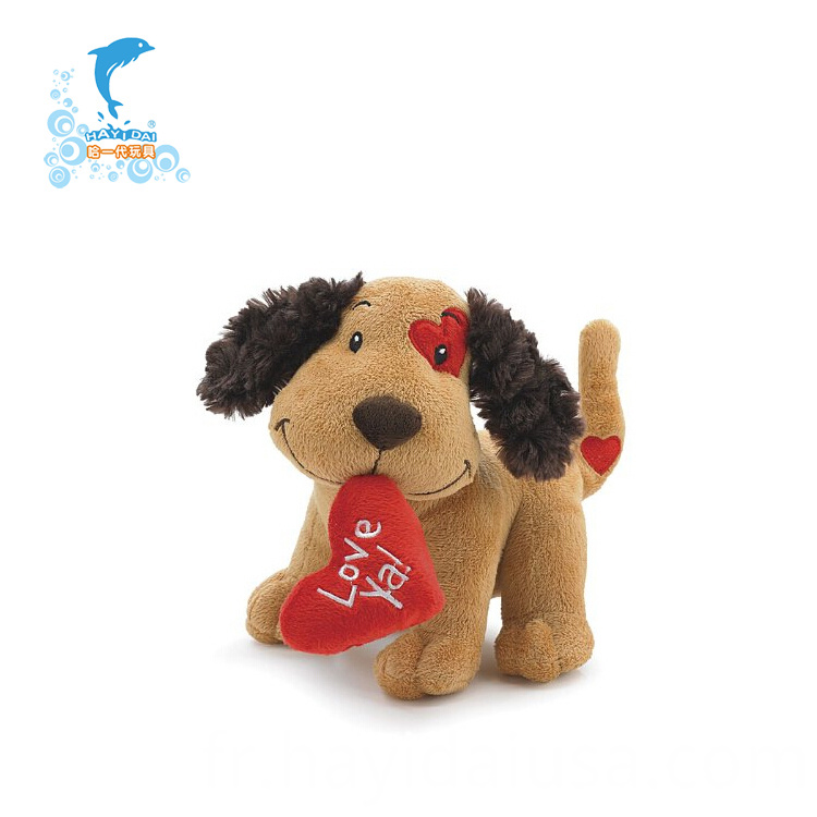 plush valentine soft dog