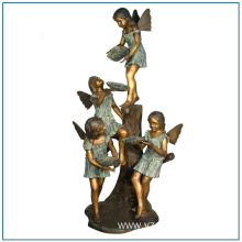 Life Size Bronze Angel Girl Statue for Garden Decoration