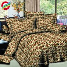 new printed 100% cotton 3d bedding sheet set fabric