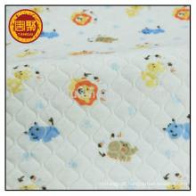 Tela acolchoada impressa dobro 100% tela de algodão para o bebê