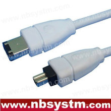 6FT FIREWIRE KABEL 6 BIS 4 PIN IEEE 1394 iLINK PC MAC