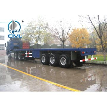 2 semi-remorques Flat Bed 30 T