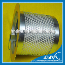 Air compressor filter 39863857 air filter, stainless steel filter cartridge