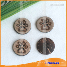 Boutons de noix de coco naturels pour vêtement BN8044