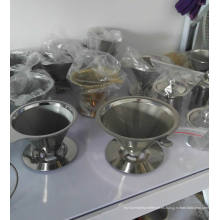 Filtro de café de acero inoxidable Malla de alambre Vierta sobre / Vierta sobre el goteador del café