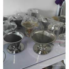 Filtre à café en acier inoxydable Fil métallique Verser / Verser sur le galet de café