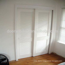 Country style plantation bathroom louver doors from china