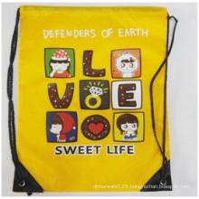 Promotional Drawstring Bags, Cartoon Backpack Bags Hot Stamping Logo