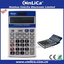 Calculatrice d'affichage à deux lignes avec fonction fiscale